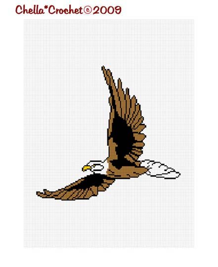 Chella Crochet Flying Eagle Afghan Crochet Pattern Graph Emailed