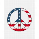 CHELLA*CROCHET American Flag Peace Sign Symbol Afghan Crochet Pattern Graph EMAILED .PDF