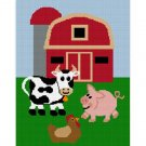 Sale See Shop Farm Scene Cow Pig Chicken Barn Afghan Crochet Pattern Graph Emailed to you