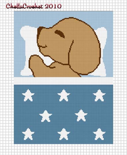 Sale See Shop Sleeping Puppy Stars Blue Boys Baby Afghan Crochet Pattern Graph