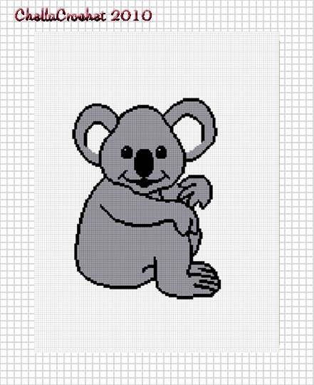 Sale See Shop Koala Bear Baby Afghan Crochet Pattern Graph