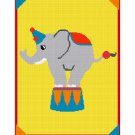 BUY 2 GET 1 FREE Chella Crochet Fun and Easy Circus Elephant Afghan Crochet Pattern Graph