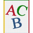 BUY 2 GET 1 FREE Chella Crochet ABC Alphabet Letters Afghan Crochet Pattern Graph