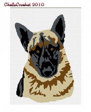 BUY 2 GET 1 FREE Chella Crochet German Shepherd Dog Afghan Crochet Pattern Graph