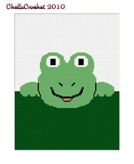 Sale See Shop Hang on Frog Afghan Crochet Pattern Graph 100st