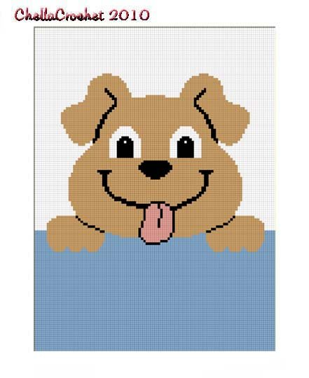 Sale See Shop Hang on Puppy Dog Afghan Crochet Pattern Graph 100st