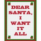 Christmas I Want It All Afghan Chella Crochet Pattern Graph