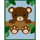 Chella Crochet Baby Teddy Bear In Tree Afghan Pattern Graph Blanket Throw
