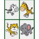 On Safari Baby Afghan Crochet Pattern Graph Chart