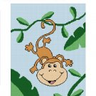 Baby Monkey Vine Tree  Afghan Crochet Pattern Graph