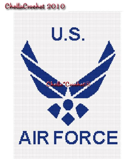 United States Air Force Afghan Crochet Pattern Graph
