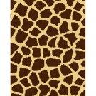 Safari Giraffe Print Afghan Crochet Pattern Graph