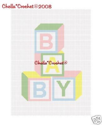 #2 Baby Blocks Pastel Colors Afghan Crochet Pattern