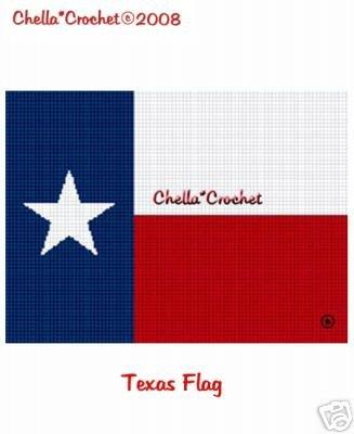 Texas Lone Star Flag  Afghan Crochet Pattern Graph