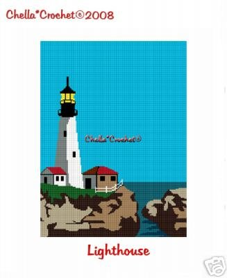 Lighthouse Afghan Crochet Pattern Graph