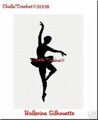 Ballerina Silhouette Afghan Crochet Pattern Graph