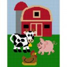 Farm Scene Animals Afghan Crochet Pattern Graph 100st