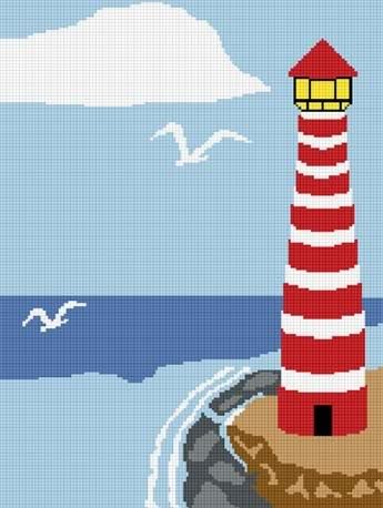 LIghthouse #4 Afghan Crochet Pattern Graph