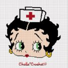 Nurse RN Betty Boop Afghan Crochet Pattern Graph