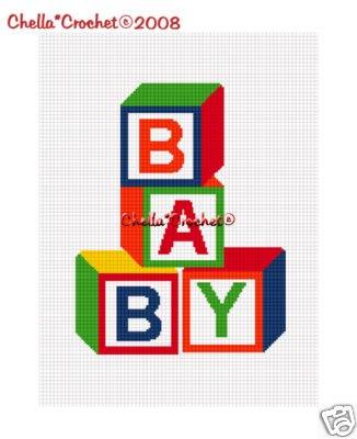 #2 Baby Blocks COLORFUL Colors Afghan Crochet Pattern