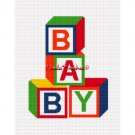 #2 Baby Blocks COLORFUL Colors Afghan Crochet Pattern