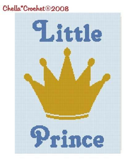 Little Prince Crown Boy Afghan Crochet Pattern Graph