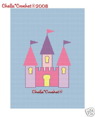 Fairy Princess Castle Afghan Crochet Pattern Graph
