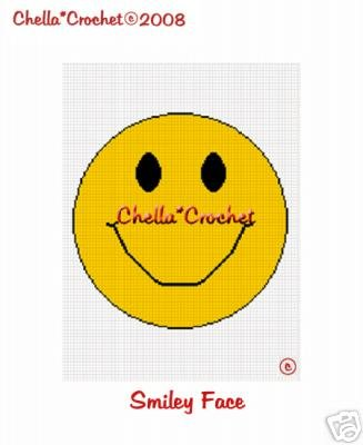 Yellow Smilie Face Afghan Crochet Pattern Graph
