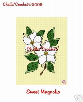 Sweet Magnolia Flower Afghan Crochet Pattern Graph