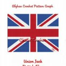 British Union Jack Flag  Afghan Crochet Pattern Graph