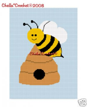 Busy Bumble Bee Hive Afghan Crochet Pattern Graph