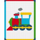 Toy Choo Train Easy Baby Afghan Crochet Pattern Graph