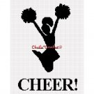Cheerleader Cheer! Sil   Afghan Crochet Pattern Graph