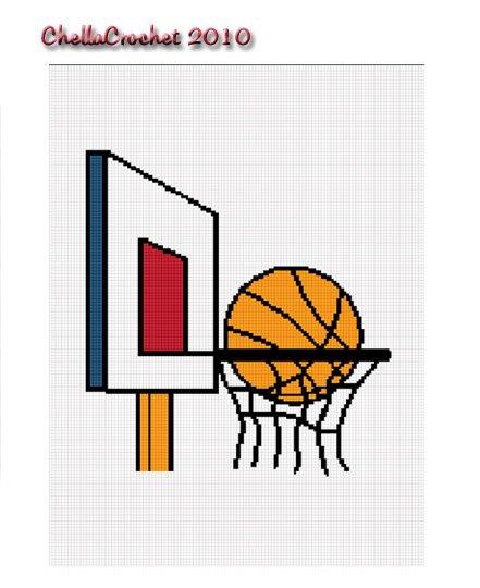 Basketball & Hoop Afghan Crochet Pattern Graph