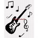 Guitar Musical Notes Music Afghan Crochet Pattern Graph