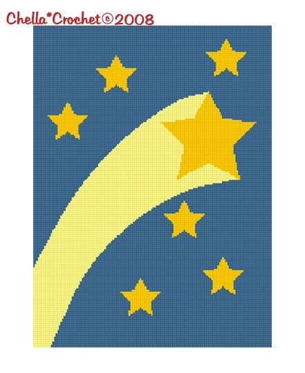 Shooting Star Celestial Afghan Crochet Pattern Graph