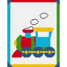 Baby Choo Train EASY Afghan Crochet Pattern Graph 100st