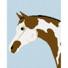 Pinto Pony Horse Afghan Crochet Pattern Graph