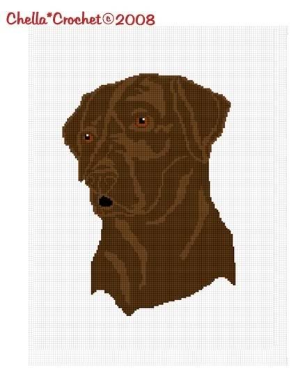 Chocolate Lab Labrador Afghan Crochet Pattern Graph