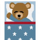 Sleeping Teddy Bear Boy Afghan Crochet Pattern Graph