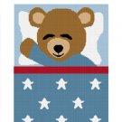 Sleeping Teddy Bear Boy Afghan Crochet Pattern Graph