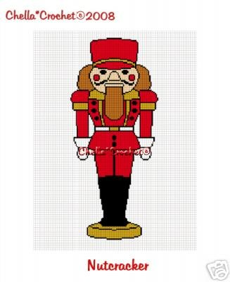 Christmas Nutcracker Soldier  Afghan Crochet Pattern