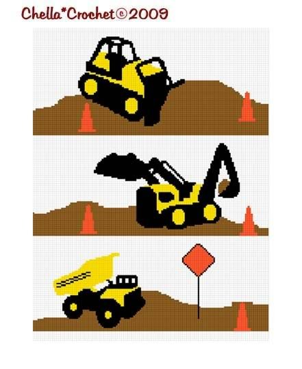 Construction Zone Afghan Crochet Pattern Graph