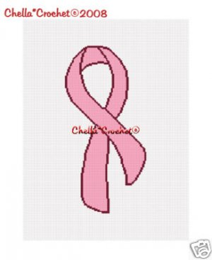 Breast Cancer Awareness Ribbon Afghan Crochet Pattern
