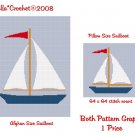LARGE Sailboat Afghan and Pillow Crochet Pattern Graph