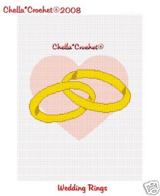 Wedding Rings Heart Afghan Crochet Pattern Graph