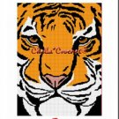 Bengal Tiger Afghan Crochet Pattern Graph