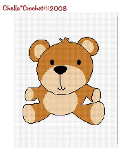 Baby Brown Teddy Bear Afghan Crochet Pattern Graph