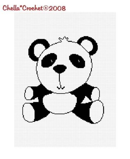 Baby Panda Bear Afghan Crochet Pattern Graph