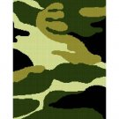 Camouflage Green Camo Afghan Crochet Pattern Graph